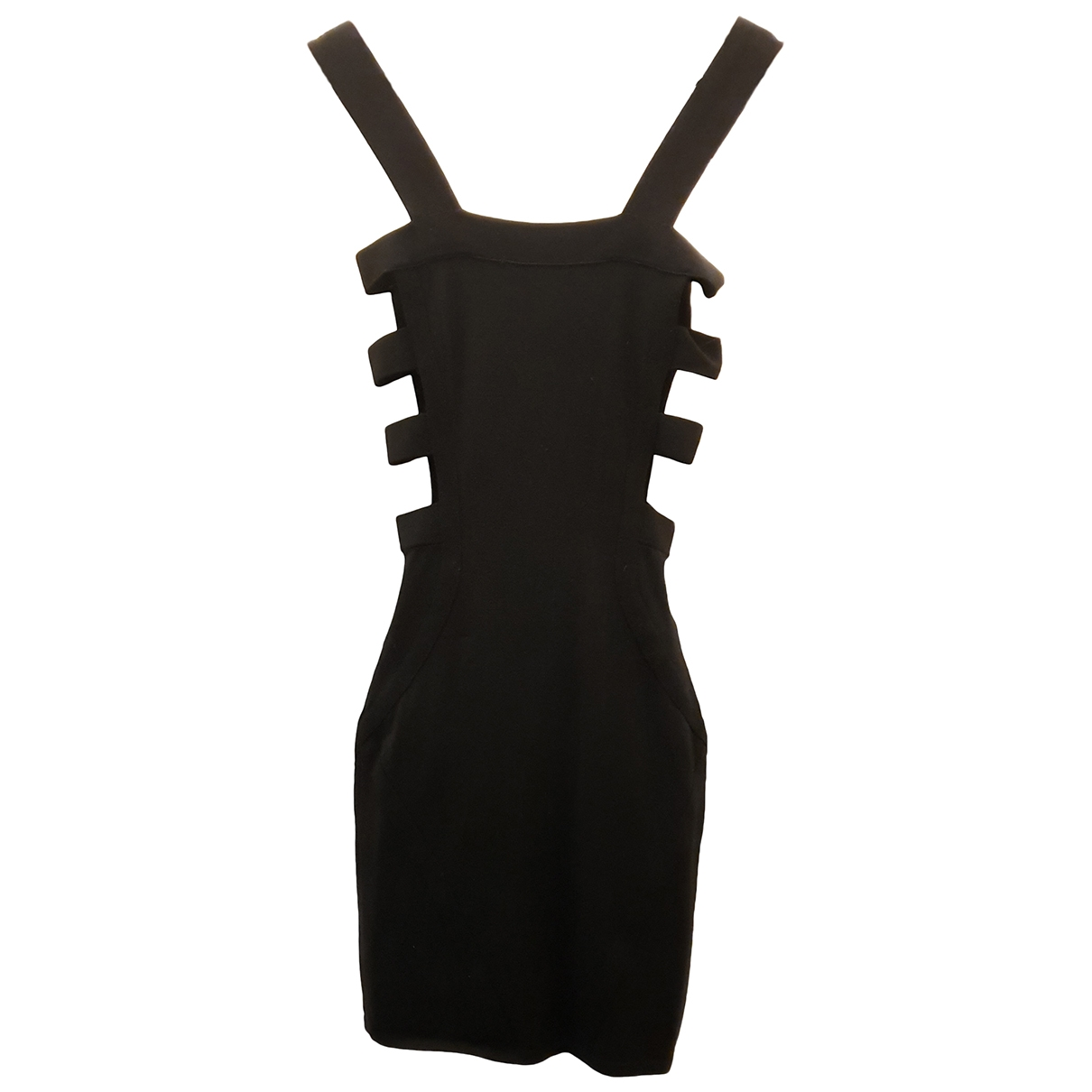Mcq \N Kleid in  Schwarz Synthetik
