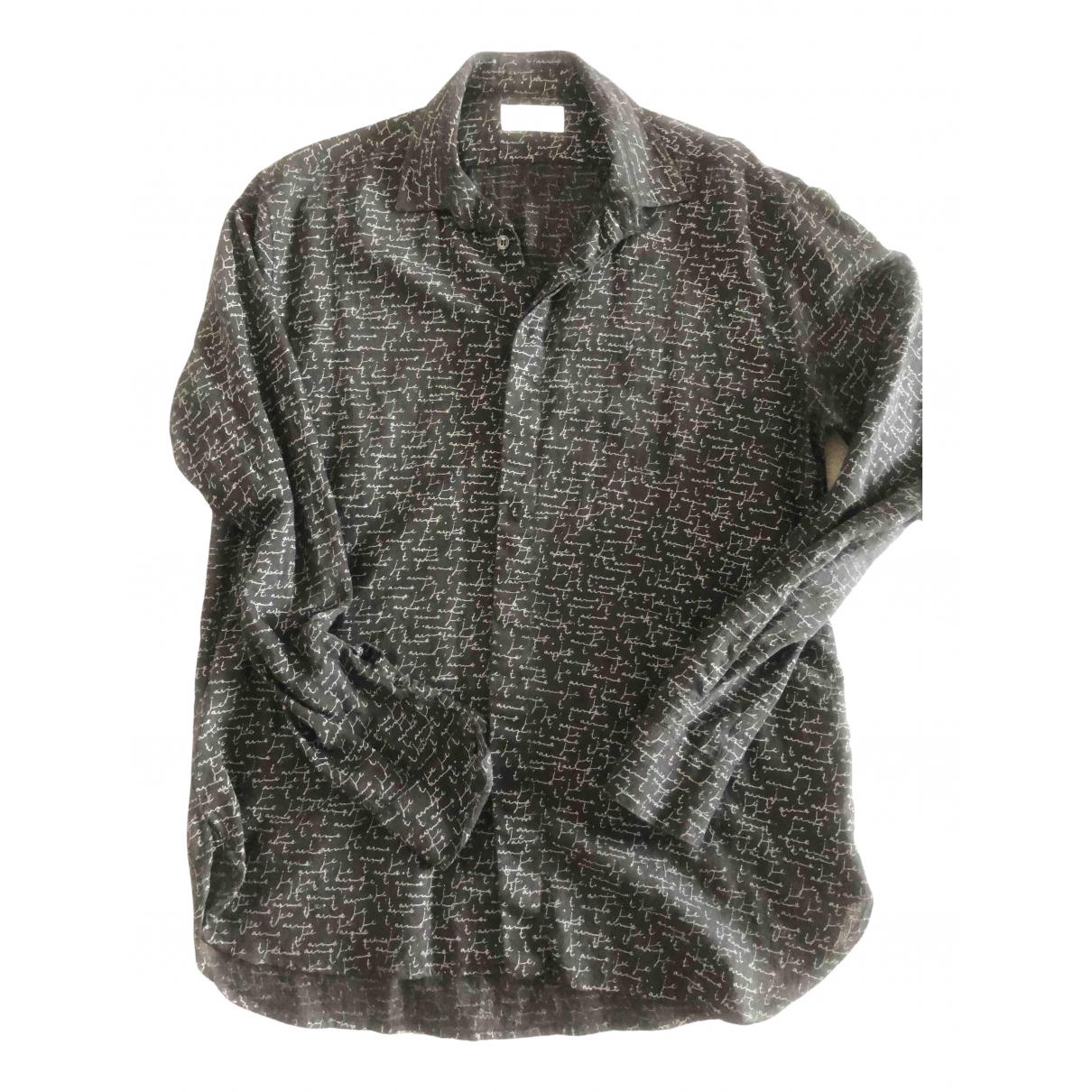 Saint Laurent \N Black Wool Shirts for Men 40 EU (tour de cou / collar)
