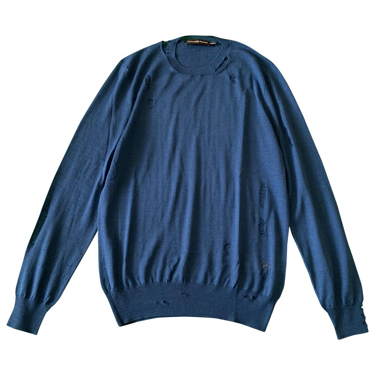 Alexander Mcqueen - Pulls.Gilets.Sweats   pour homme en laine - bleu
