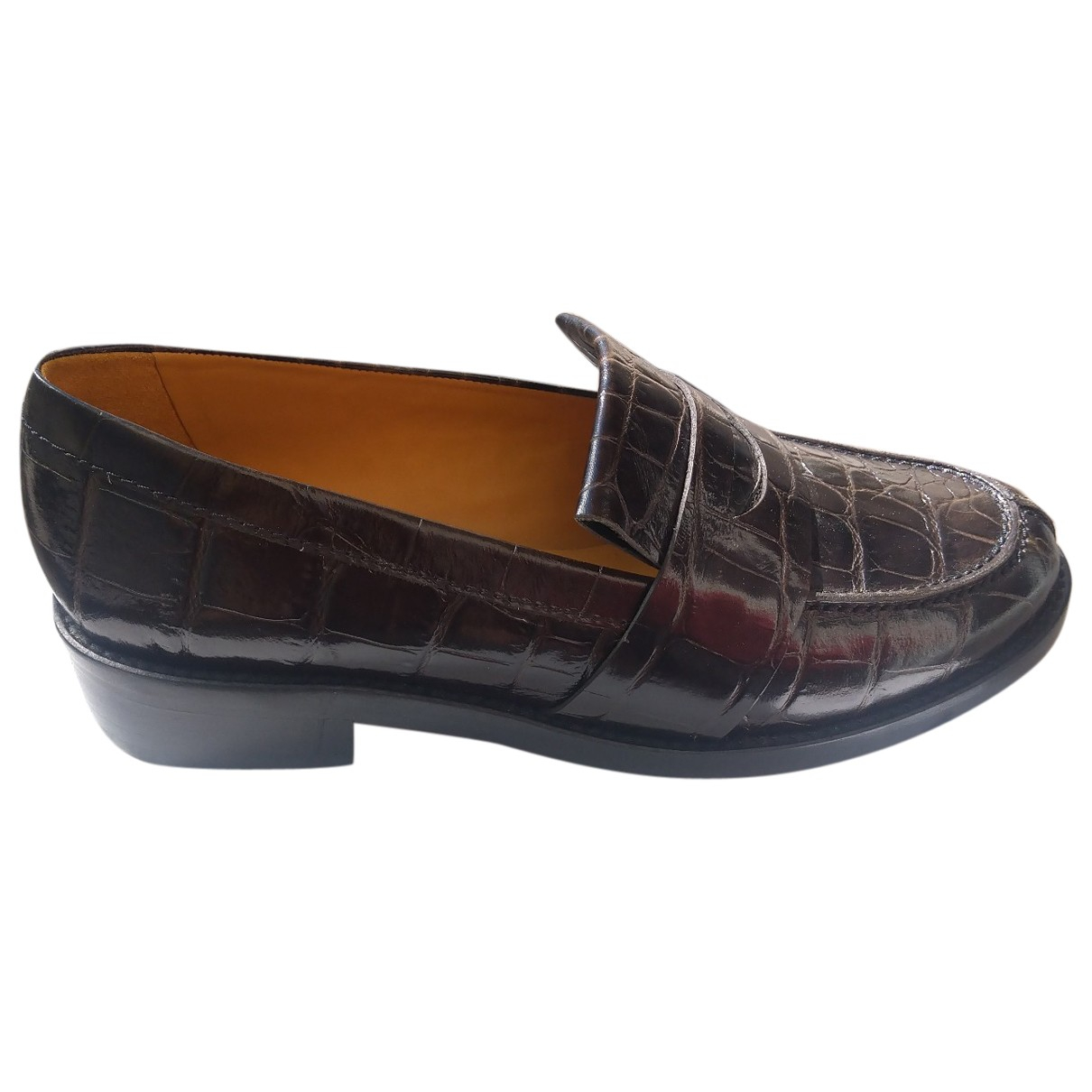 Sandro \N Brown Leather Flats for Women 40 EU
