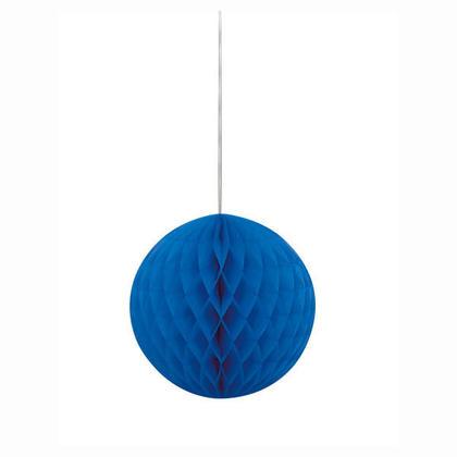 Boule de papier Pour Décoration de fête 8'' - bleu royal