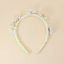 Toddler Girls Flower Decor Hair Hoop