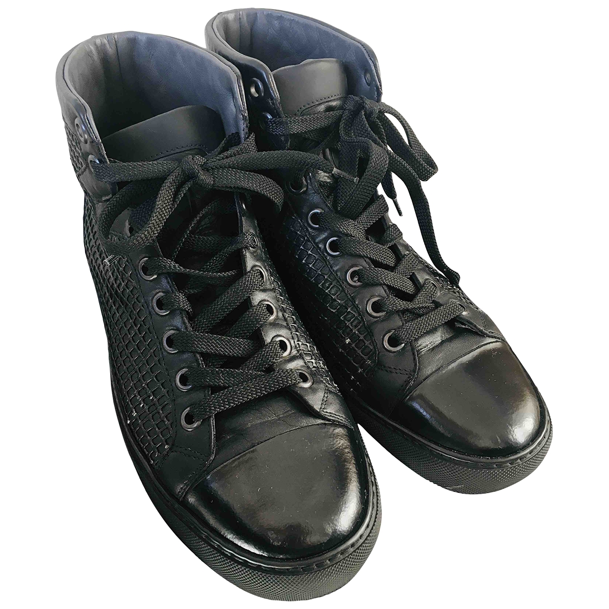 Viktor & Rolf \N Black Leather Trainers for Men 41 EU