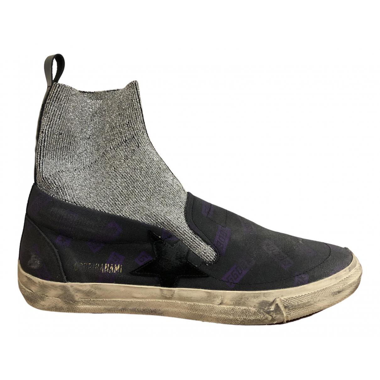 Golden Goose Hanami Sneakers in  Lila Leinen