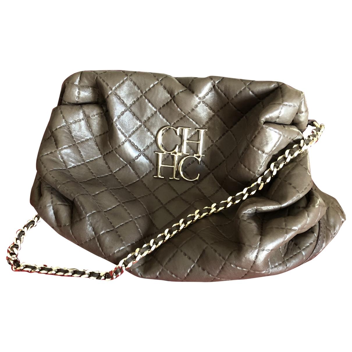 Carolina Herrera \N Grey Leather handbag for Women \N