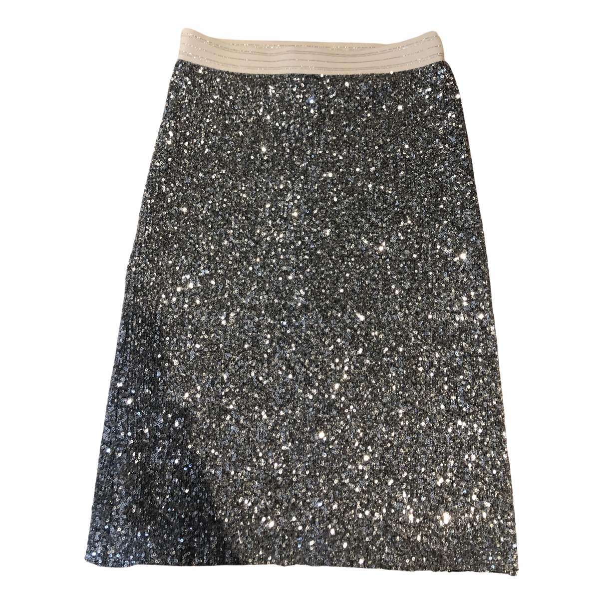 Falda midi de Con lentejuelas Zara