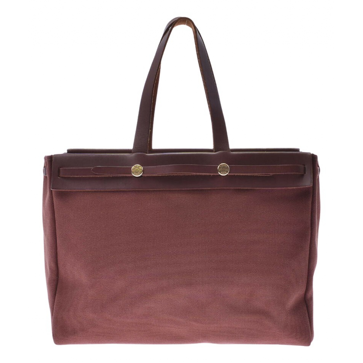 Hermès Herbag Brown Cloth handbag for Women \N