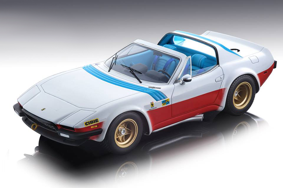 Ferrari 365 GTB/4 Michelotti 1975 Le Mans NART Press Version  with Open Roof Mythos Series Limited Edition to 100 pieces Worldwide 1/18 Model Car by