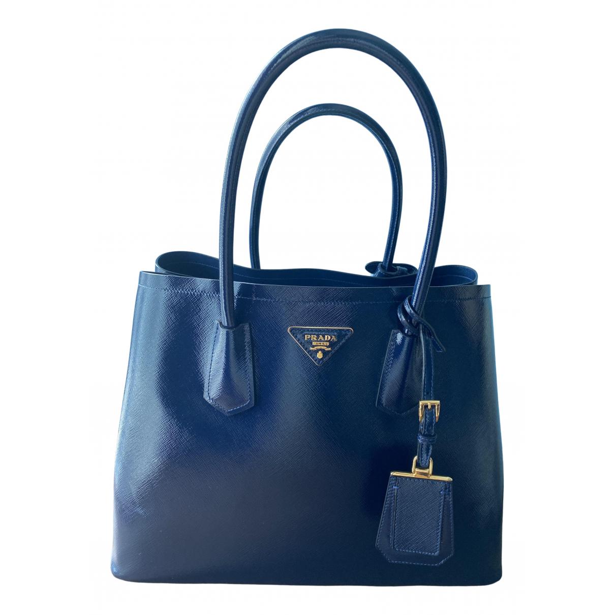 Prada saffiano  Navy Patent leather handbag for Women \N