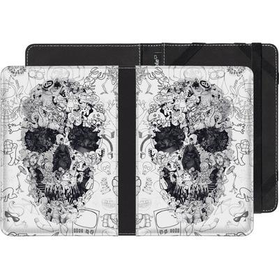 Kobo eReader Touch eBook Reader Huelle - Doodle Skull von Ali Gulec