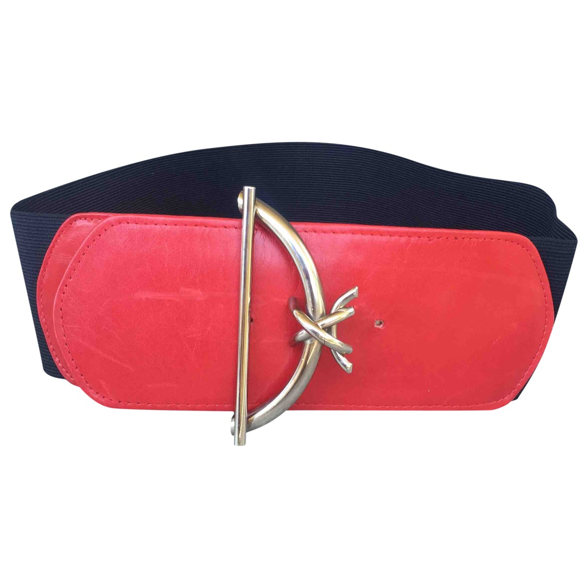 Non Signé / Unsigned \N Red Cloth belt for Women M International