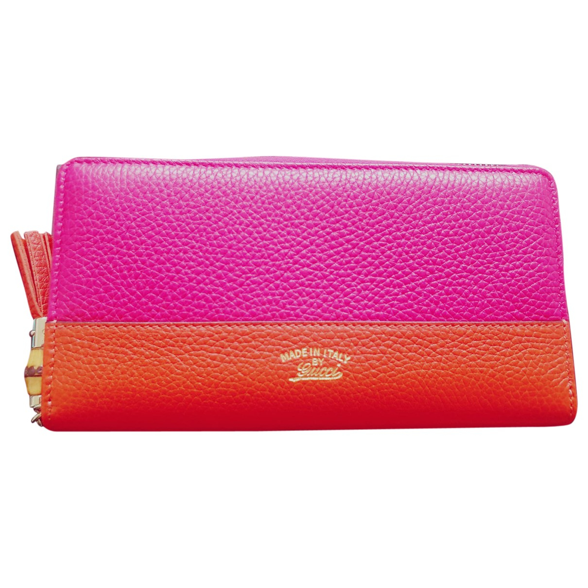 Gucci Continental Pink Leather wallet for Women \N