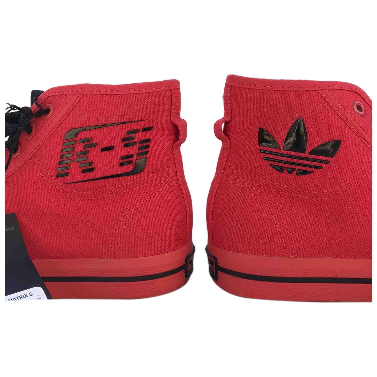 Adidas X Raf Simons - Baskets   pour femme en toile - rouge