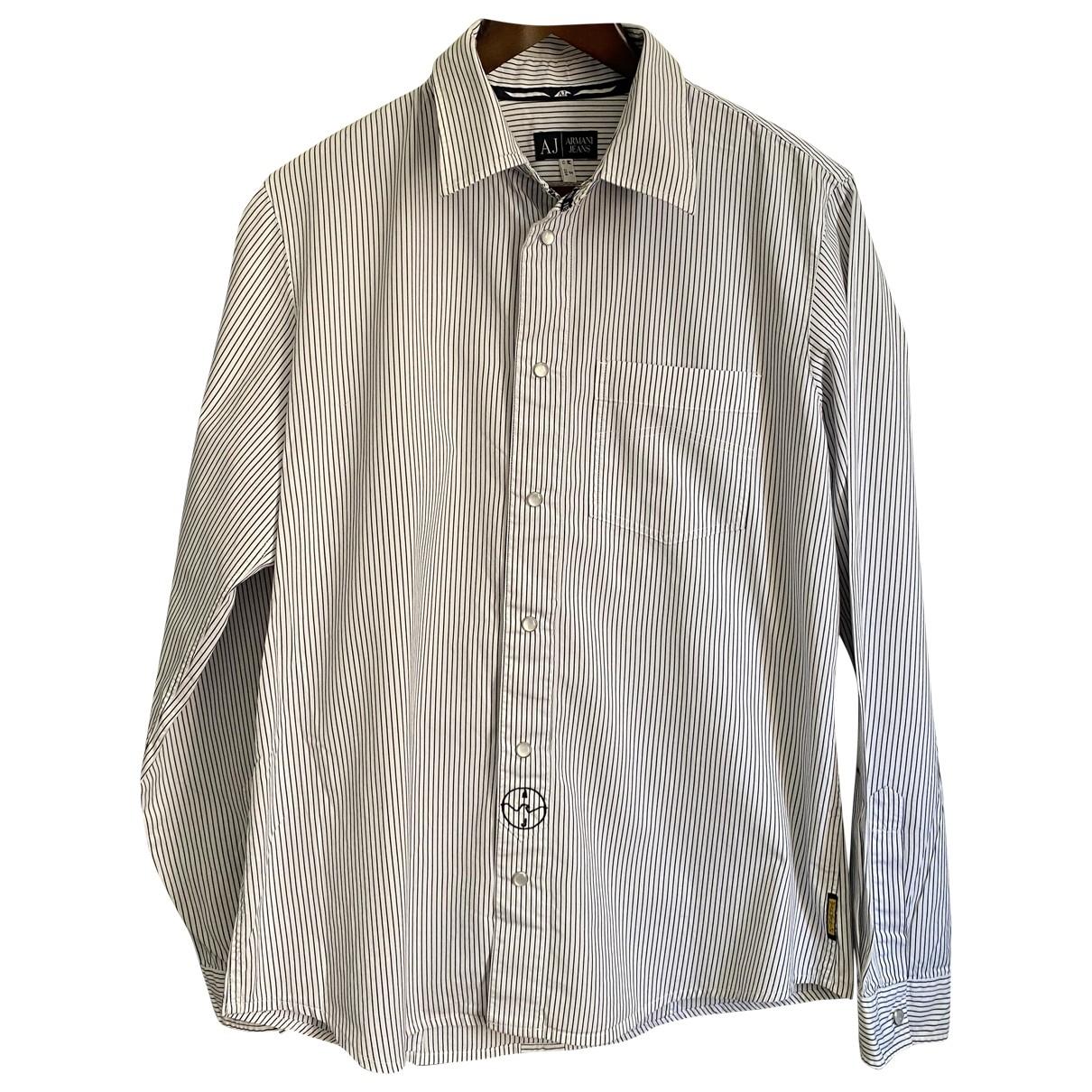 Armani Jean - Chemises   pour homme en coton - blanc