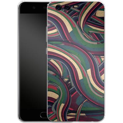 Huawei P10 Silikon Handyhuelle - Swirl Madness von Danny Ivan