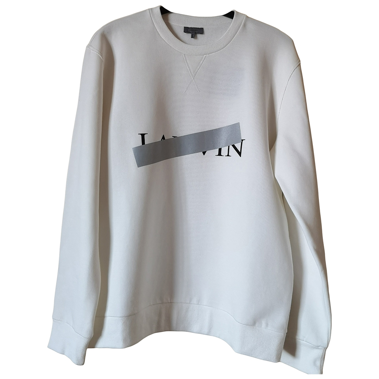 Lanvin \N Pullover.Westen.Sweatshirts  in  Ecru Baumwolle