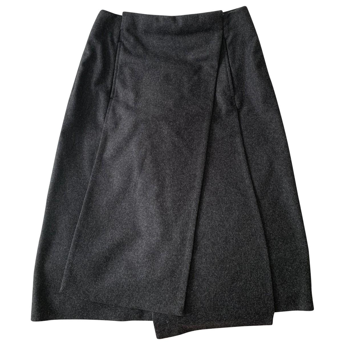 Jil Sander \N Grey Wool skirt for Women 34 FR