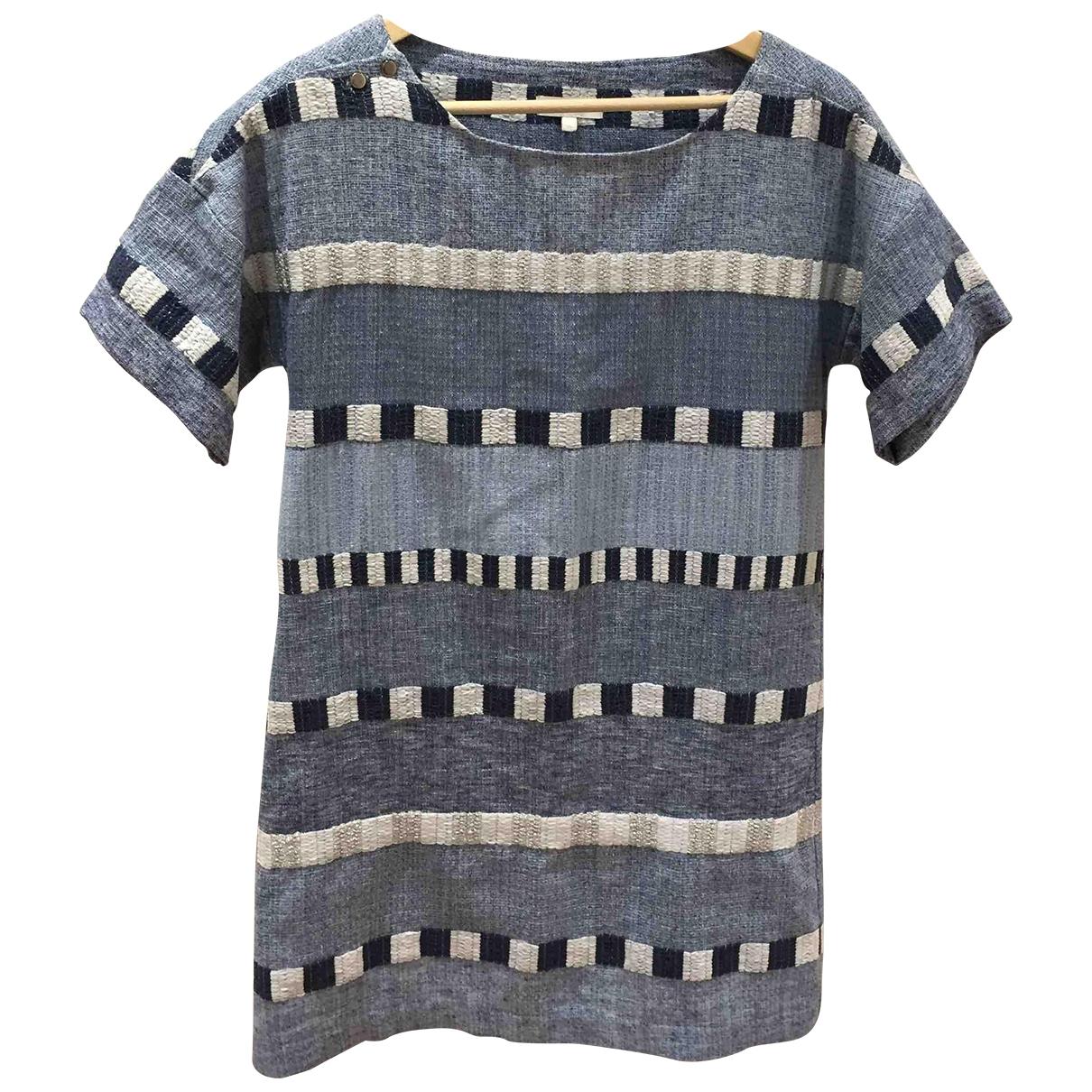 Hoss Intropia \N Blue Cotton dress for Women 34 FR