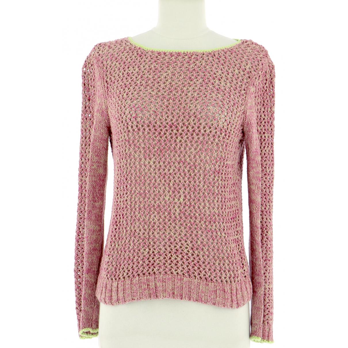 Maje \N Pullover.Westen.Sweatshirts  in  Rosa Baumwolle