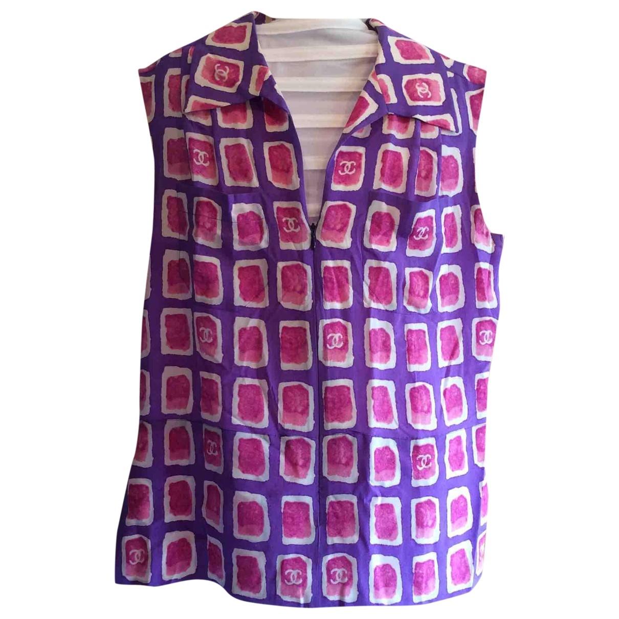 Chanel \N Purple Silk  top for Women 40 FR