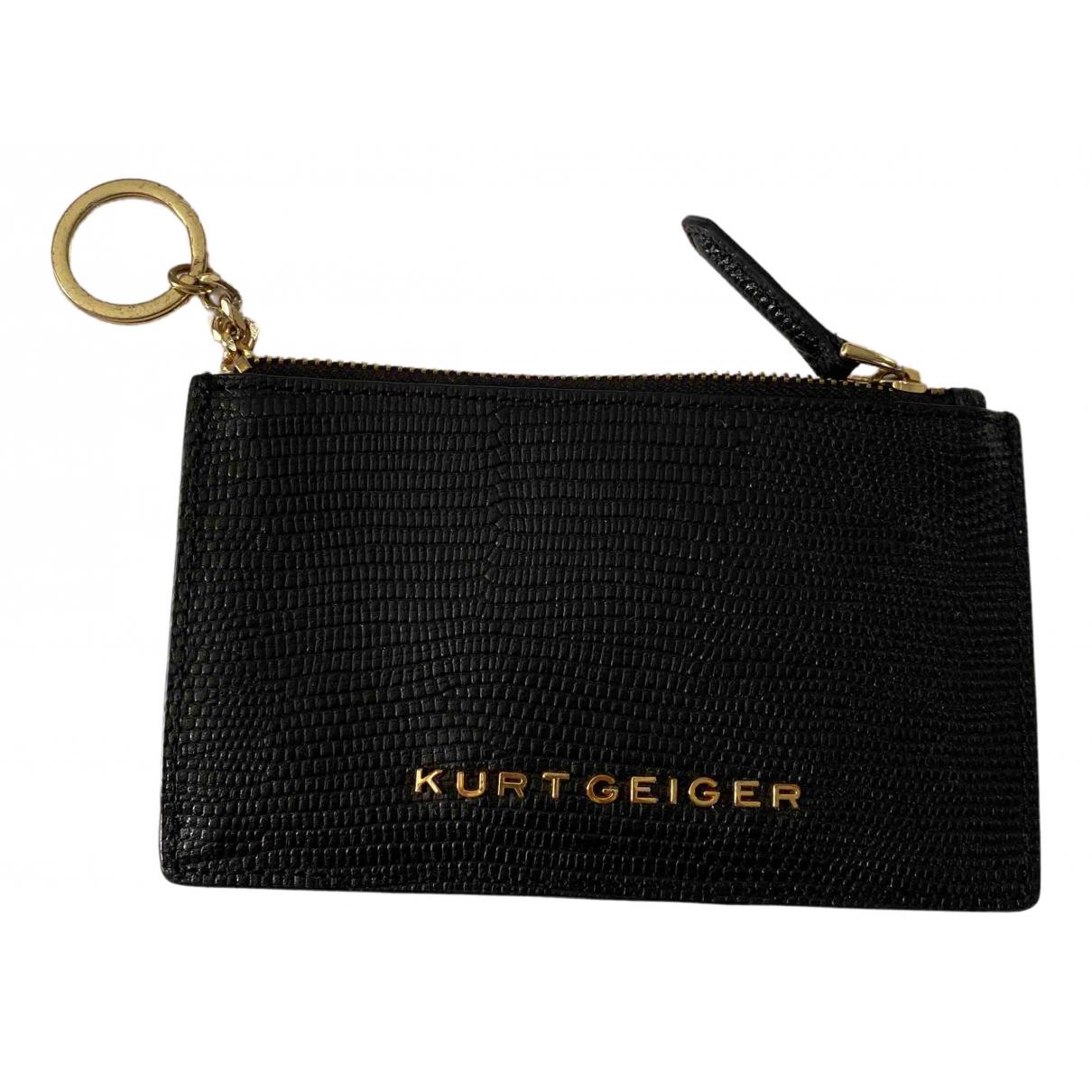 Kurt Geiger - Portefeuille   pour femme en cuir - noir