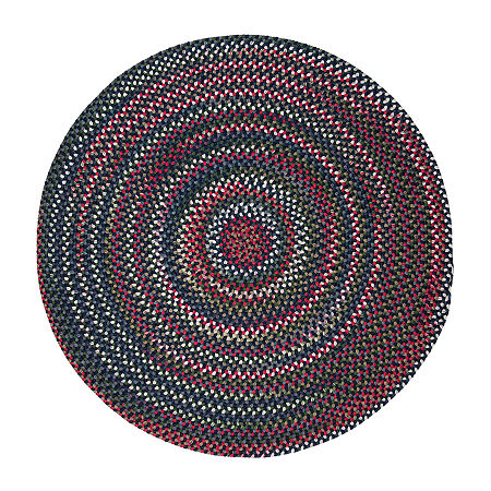 Colonial Mills American Pride Braided Round Reversible Indoor Rugs, One Size , Blue