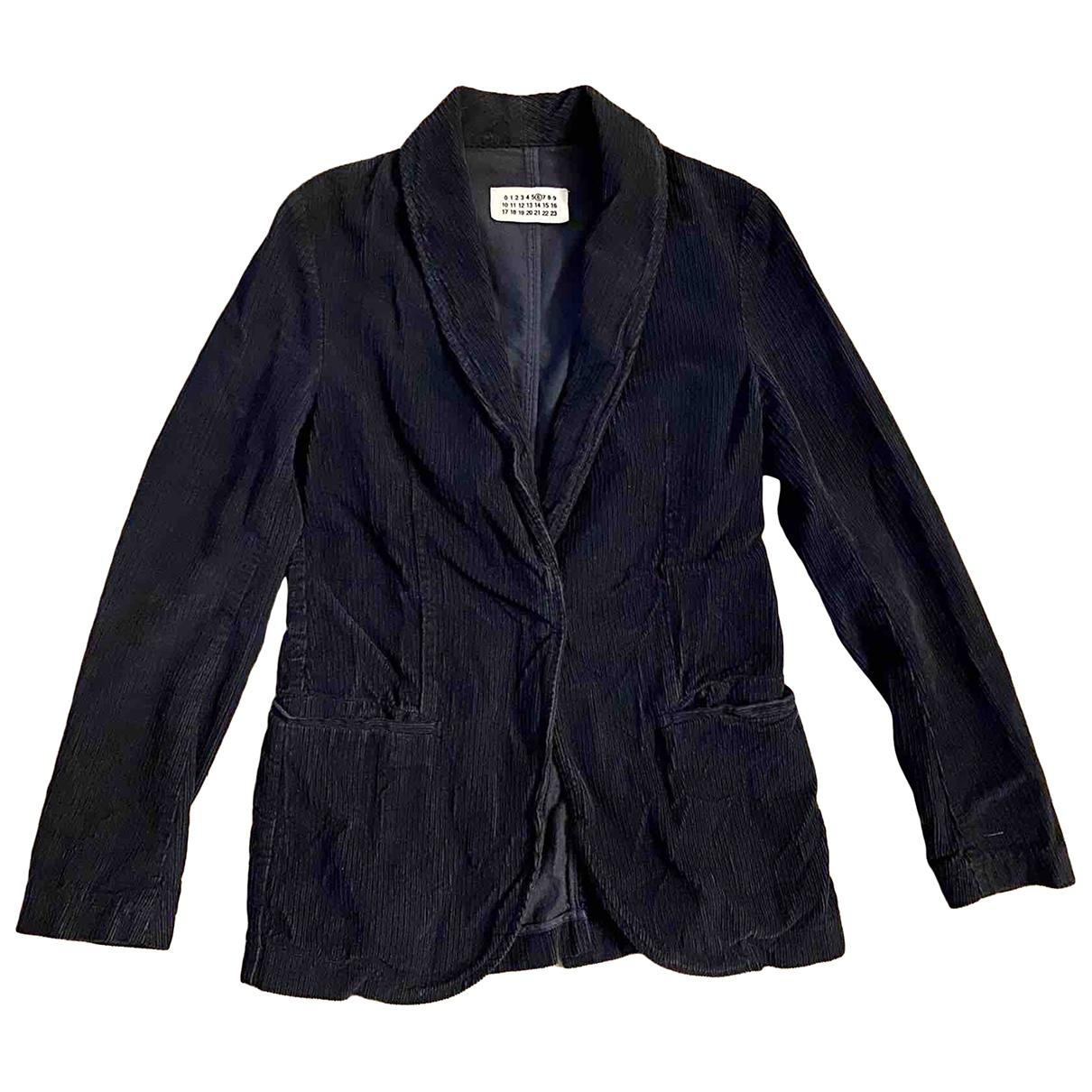 Mm6 \N Navy Velvet jacket for Women 38 FR