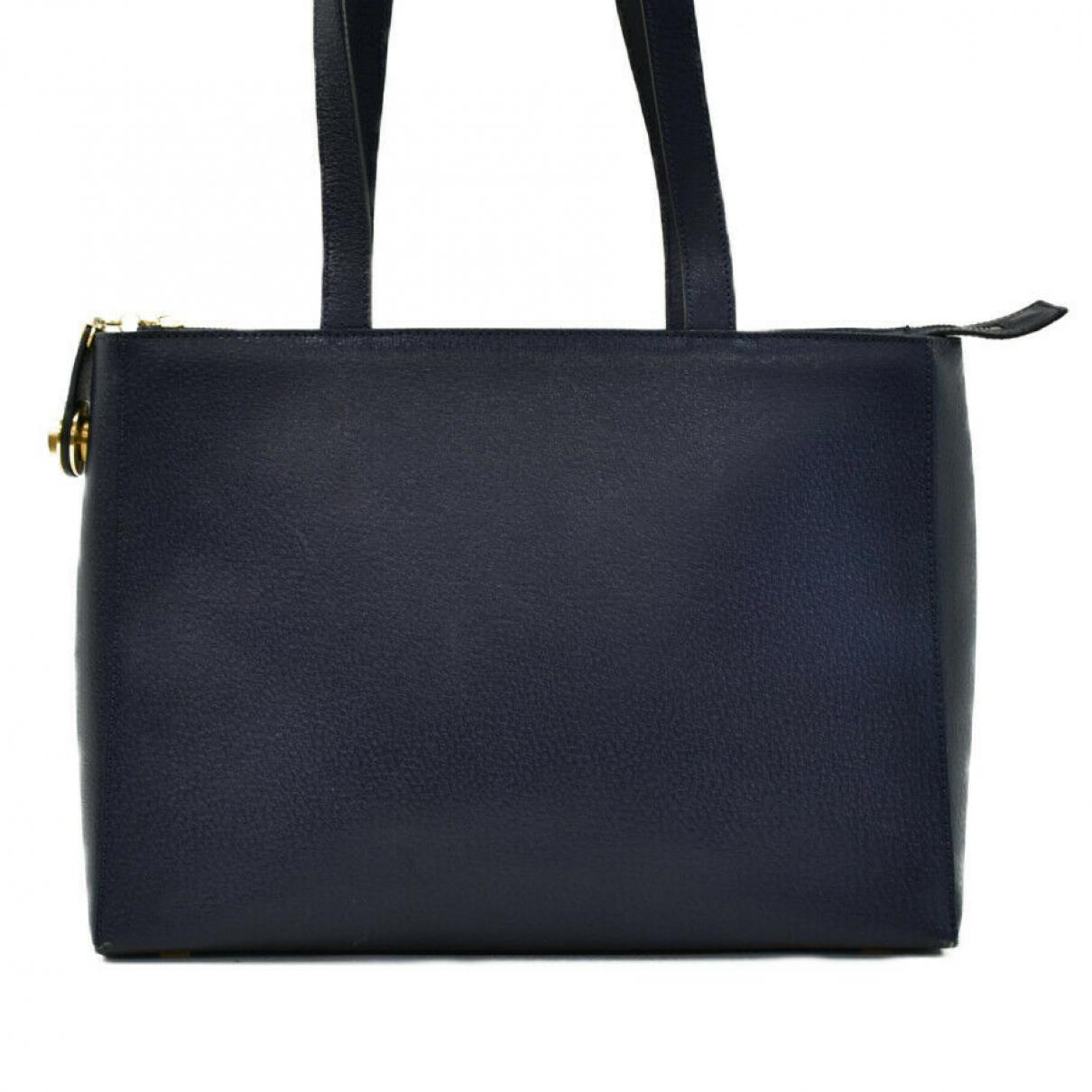 Celine \N Handtasche in  Blau Leder