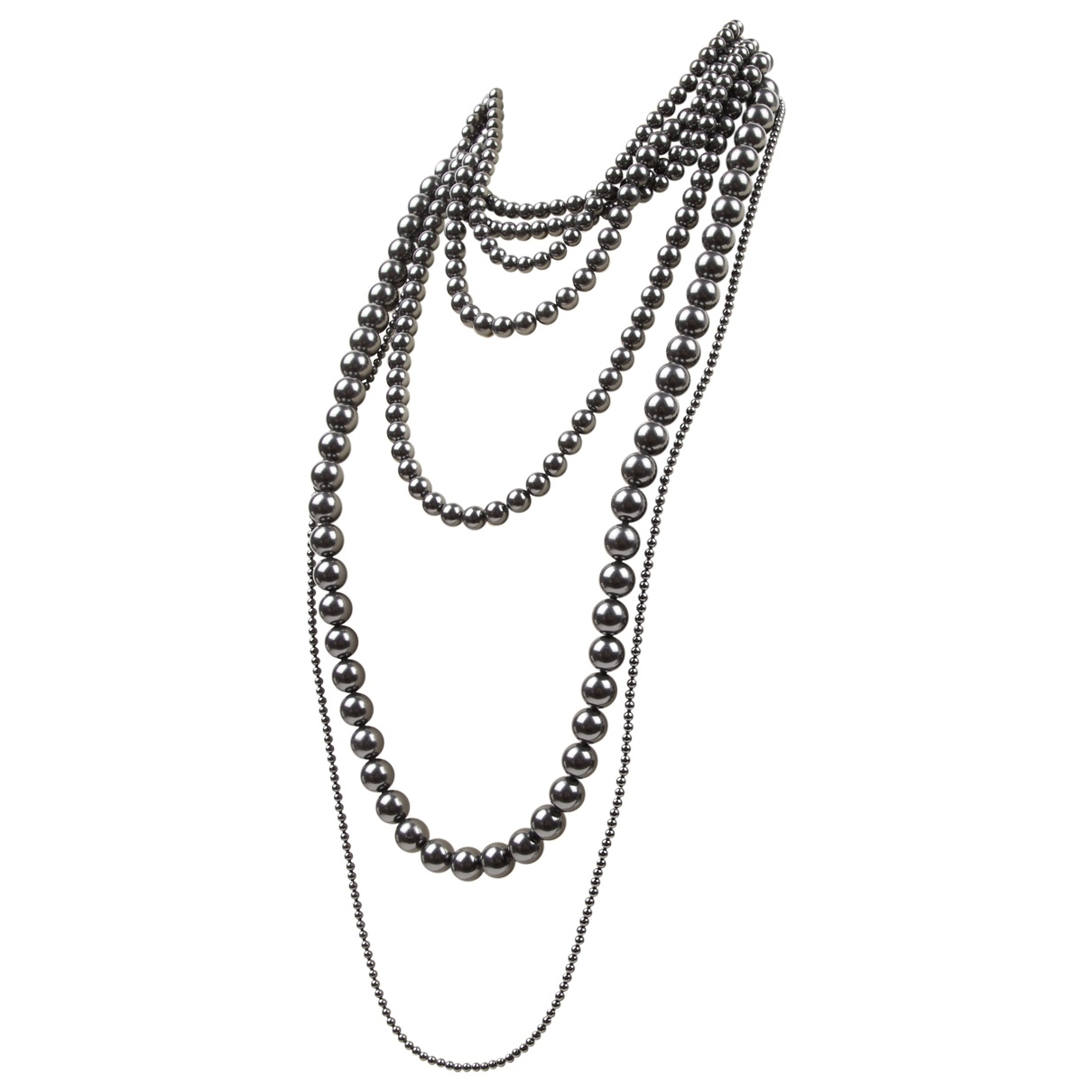 Celine \N Anthracite Pearls necklace for Women \N