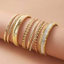 Texturiertes Armband mit Strass 9 Paare