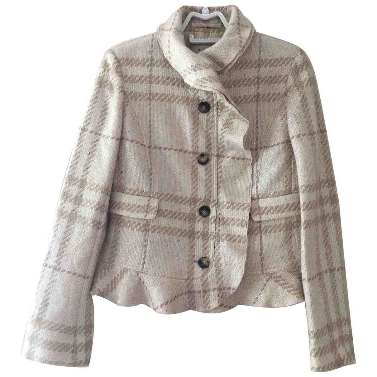 Burberry \N Beige Wool jacket for Women 8 UK