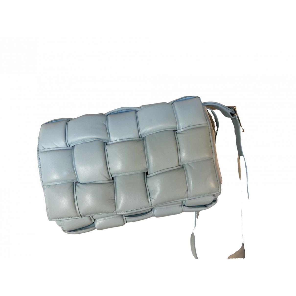 Bottega Veneta - Sac a main Cassette pour femme en cuir - bleu