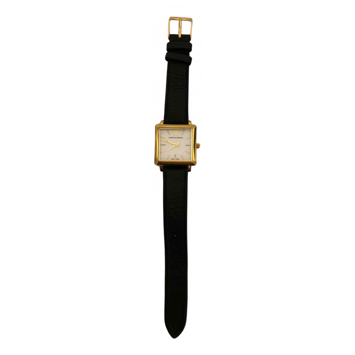 Larsson & Jennings \N Uhr in  Schwarz Vergoldet