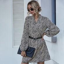 Tunika Kleid mit Dalmatiner Muster ohne Guertel
