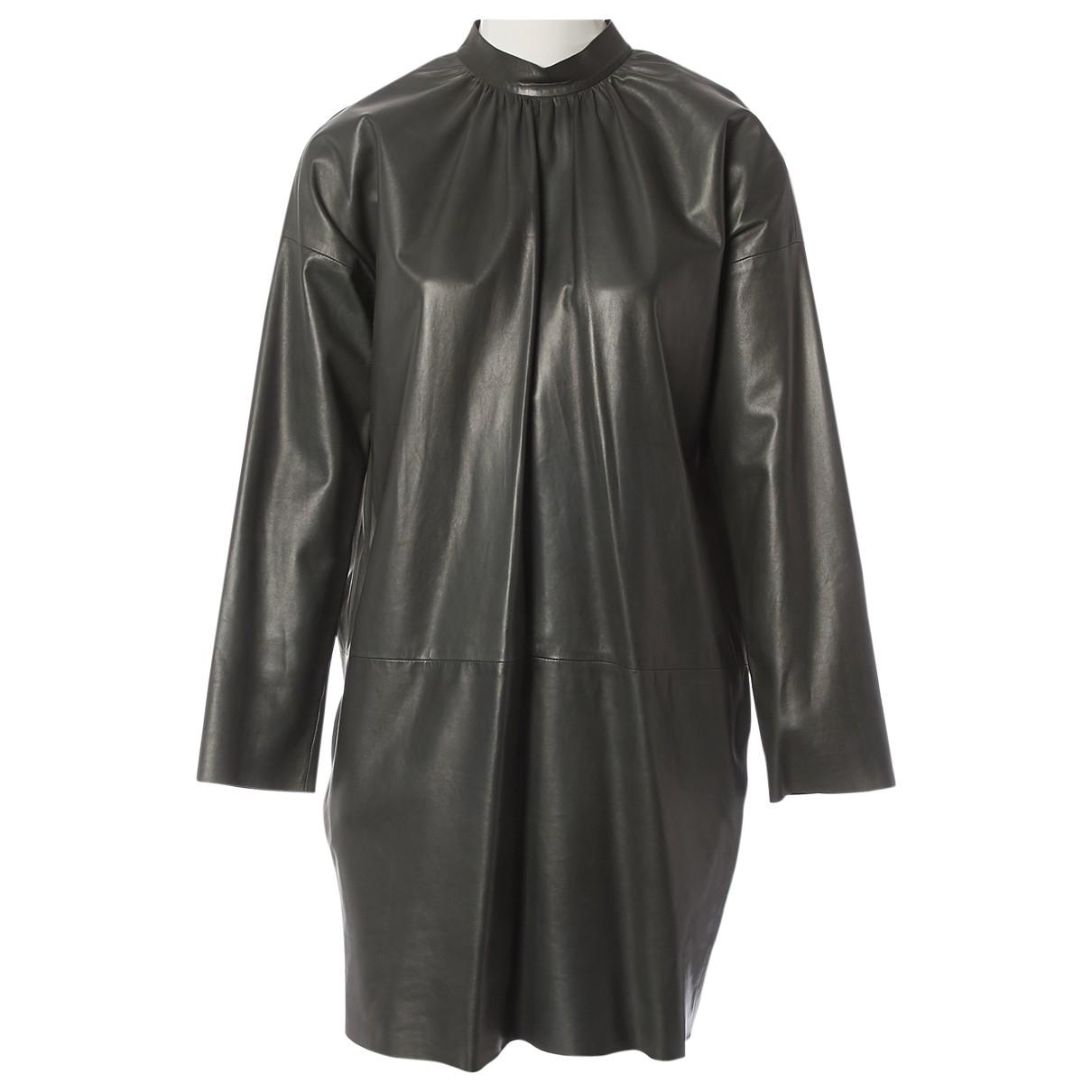Celine - Robe   pour femme en cuir - kaki