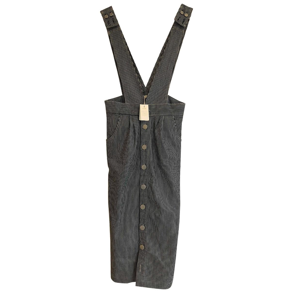 Maje \N Blue Cotton skirt for Women 34 FR