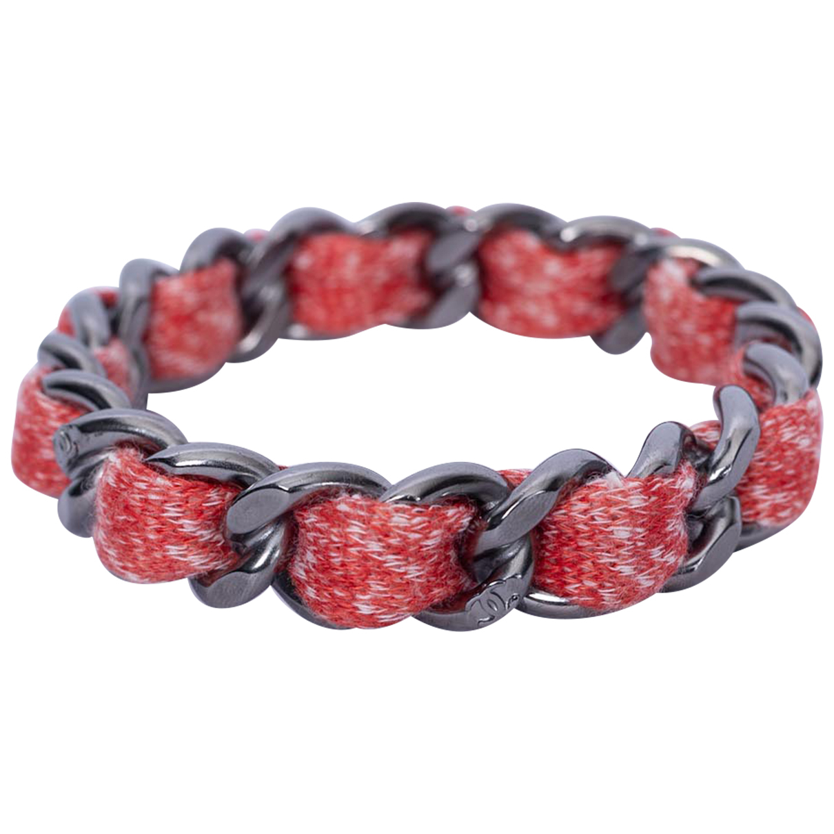 Chanel CC Armband in  Rot Metall