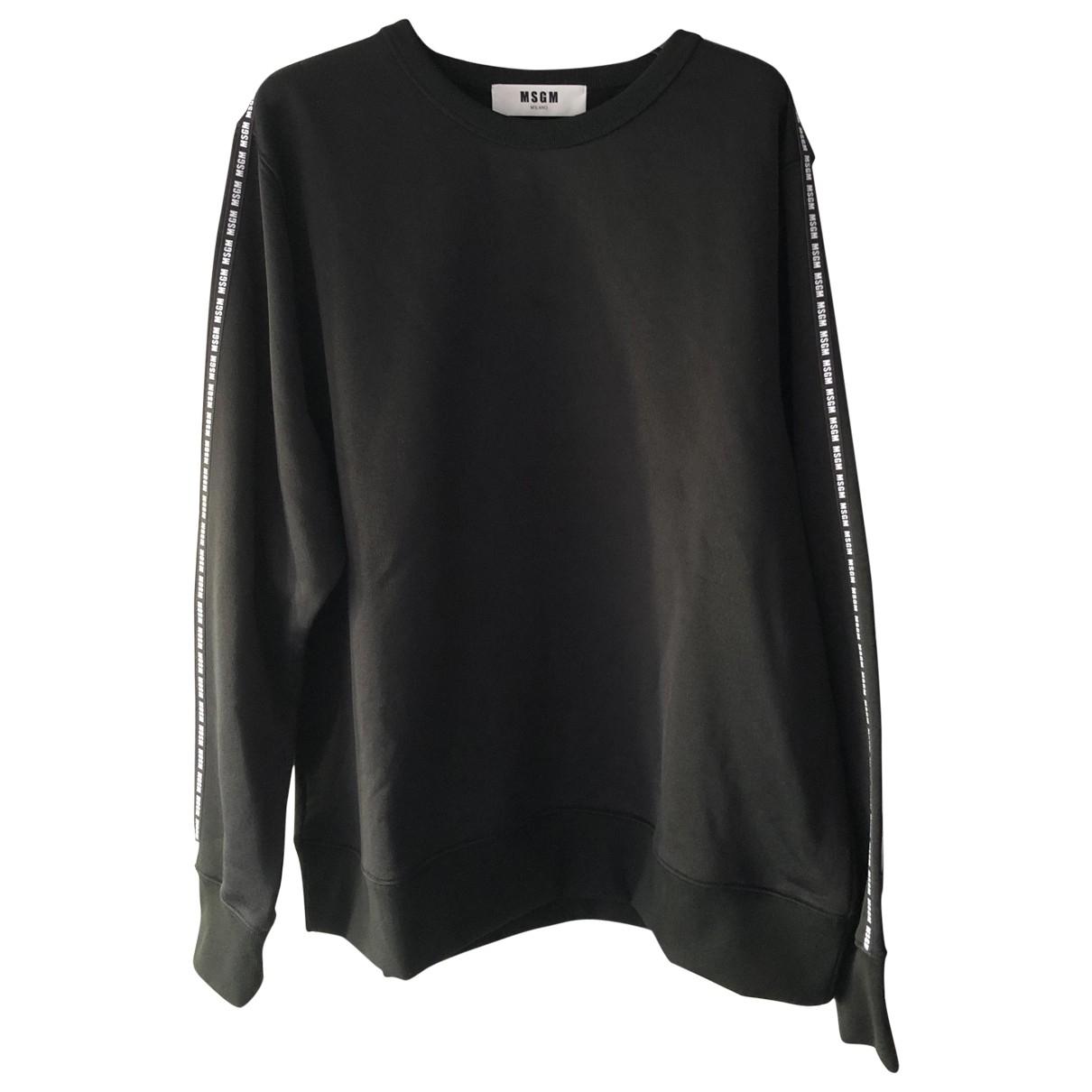 Msgm \N Pullover.Westen.Sweatshirts  in  Schwarz Baumwolle