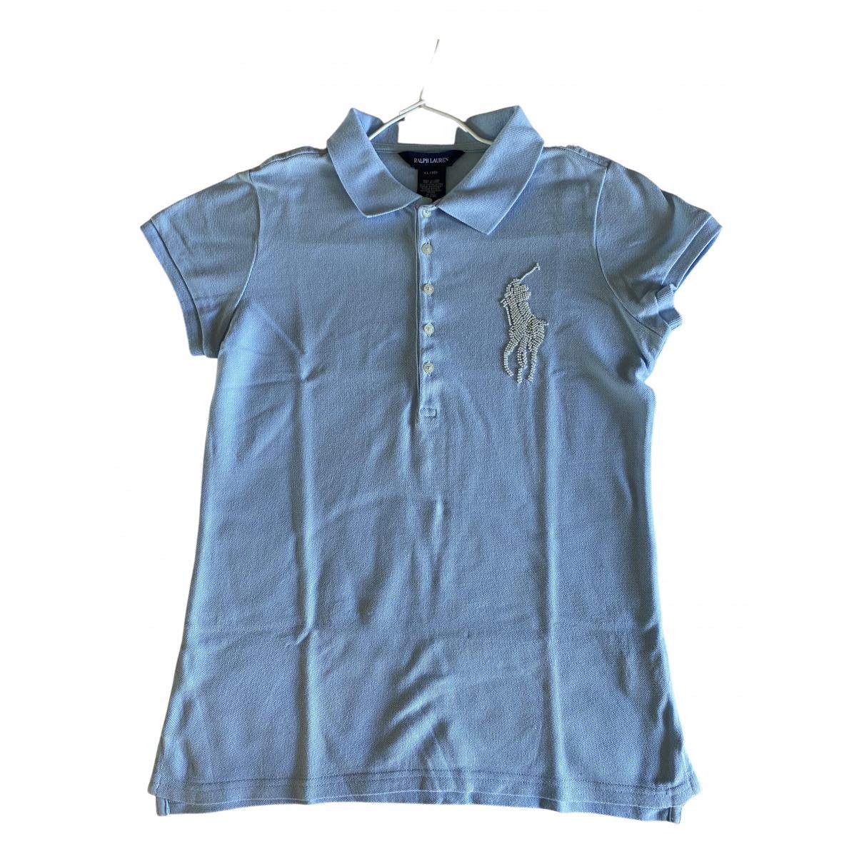 Ralph Lauren N Blue Cotton  top for Women 36 FR