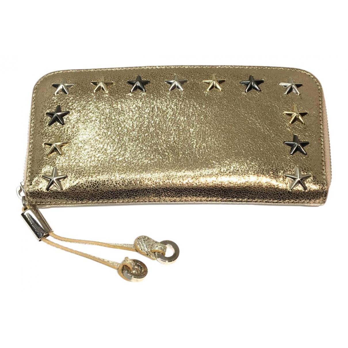 Jimmy Choo \N Portemonnaie in  Silber Leder
