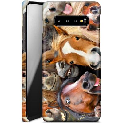 Samsung Galaxy S10 Plus Smartphone Huelle - Horse Selfie von Howard Robinson