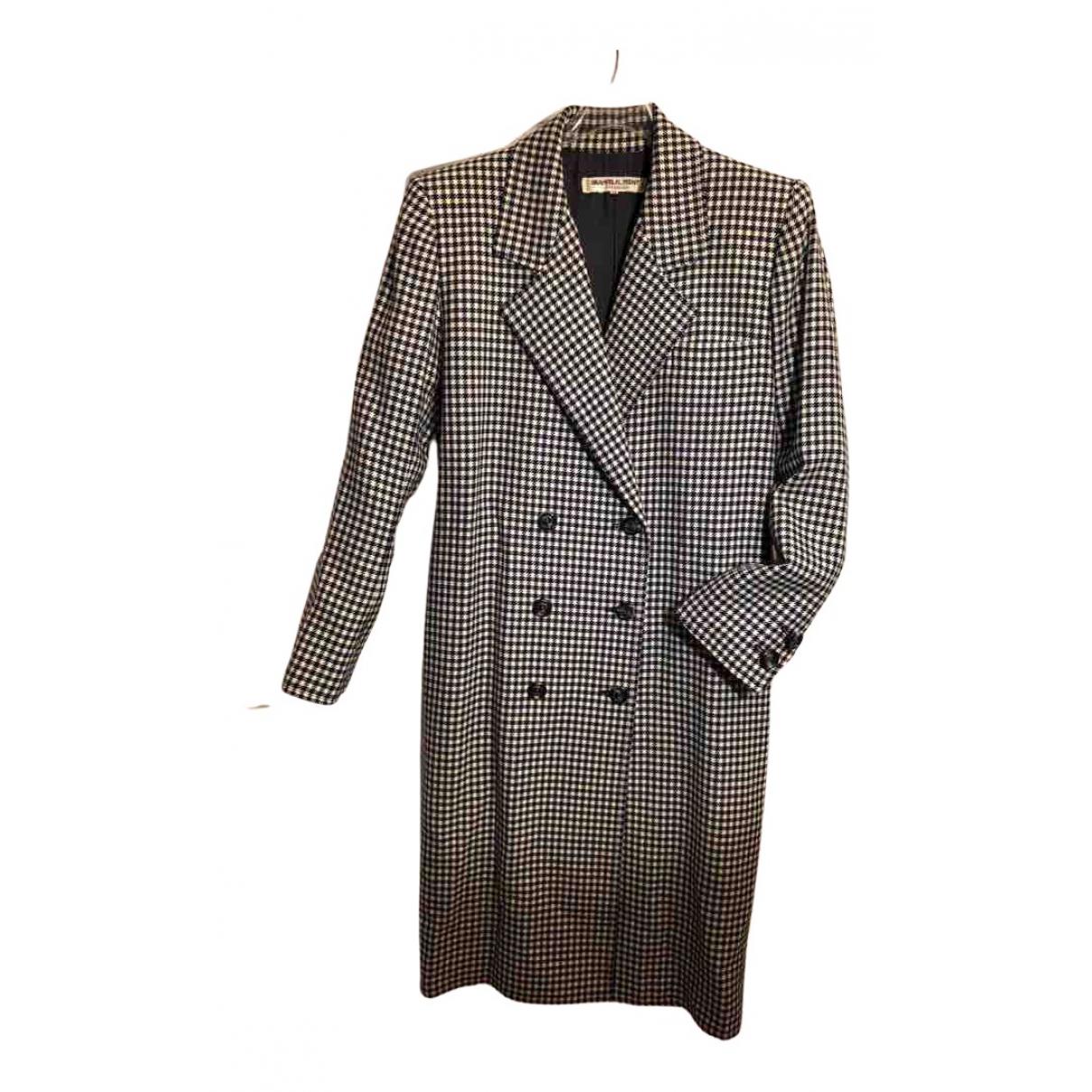 Saint Laurent N Black Wool coat for Women 38 FR