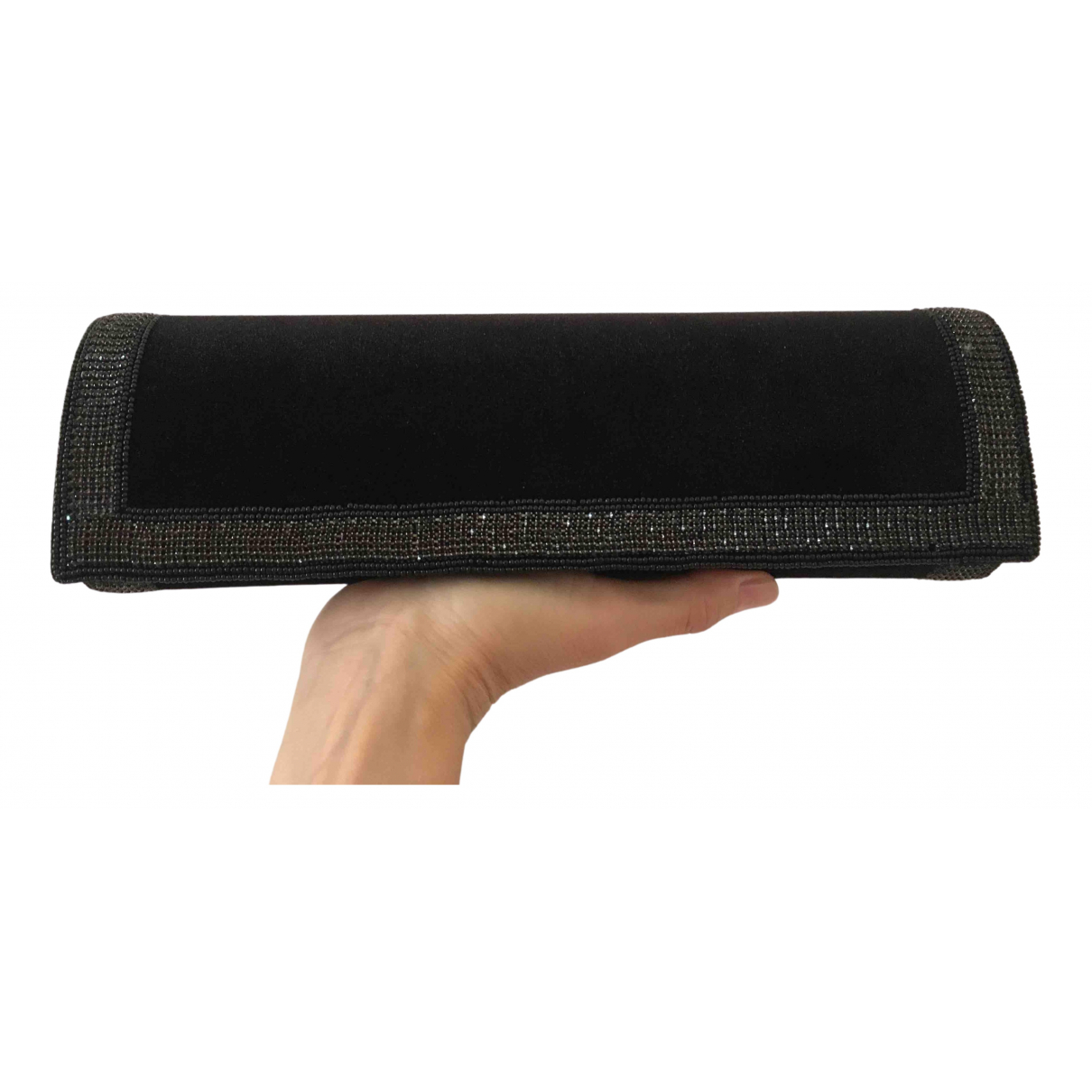 Non Signe / Unsigned \N Clutch in  Schwarz Samt