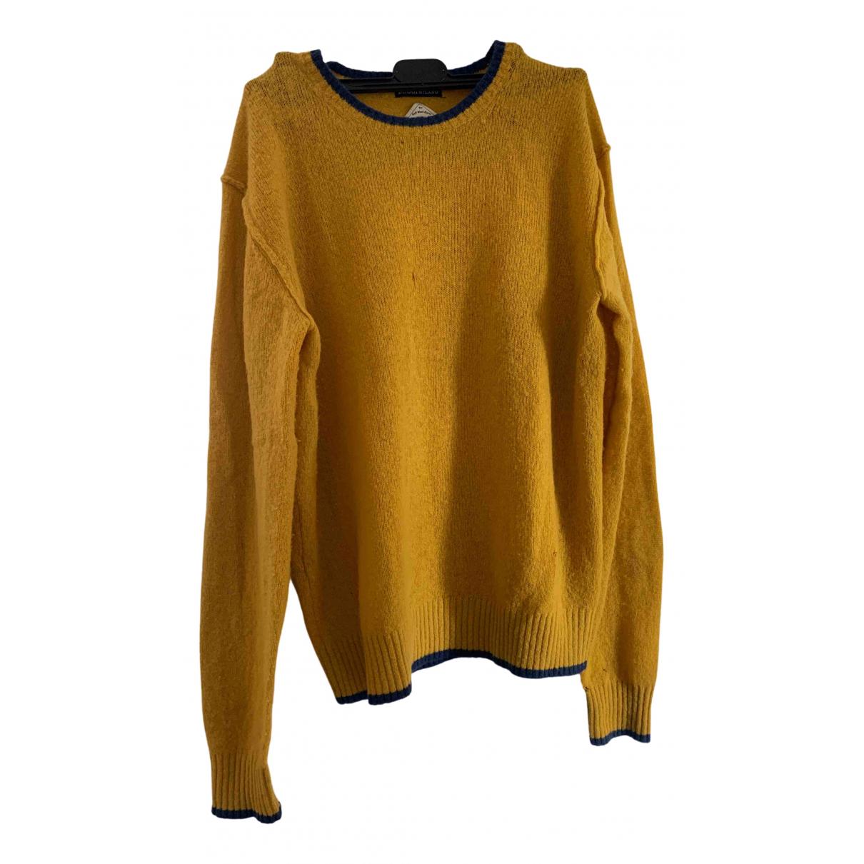 Boggi \N Pullover.Westen.Sweatshirts  in  Gelb Wolle