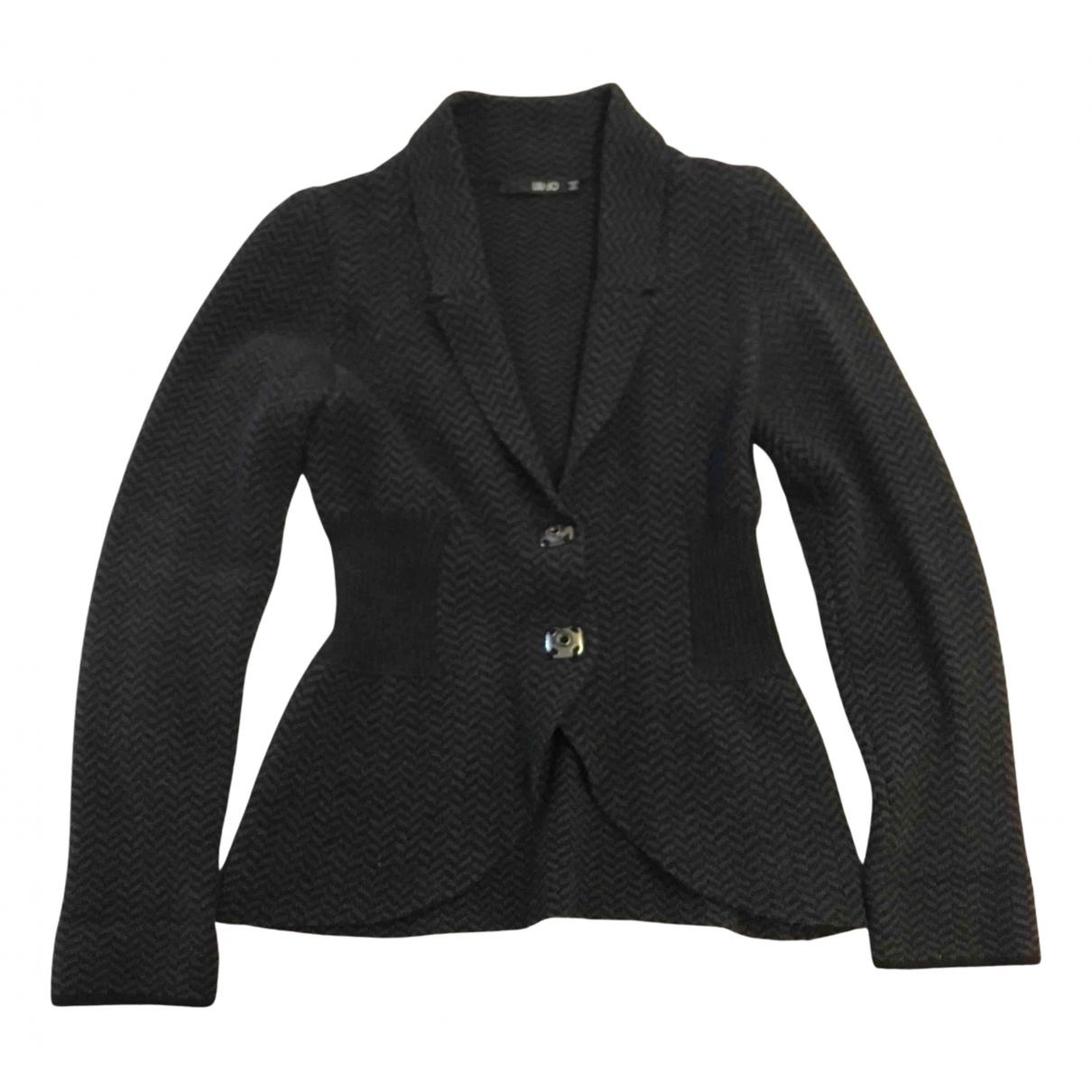 Liu.jo N Black Wool jacket for Women 46 IT