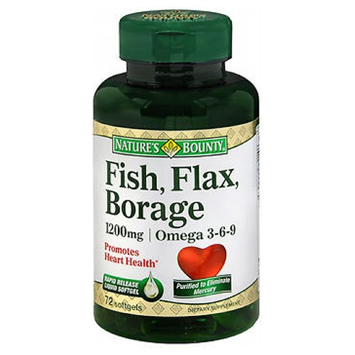 Natures Bounty Fish Flax Borage 60 caps by Nature's Bounty