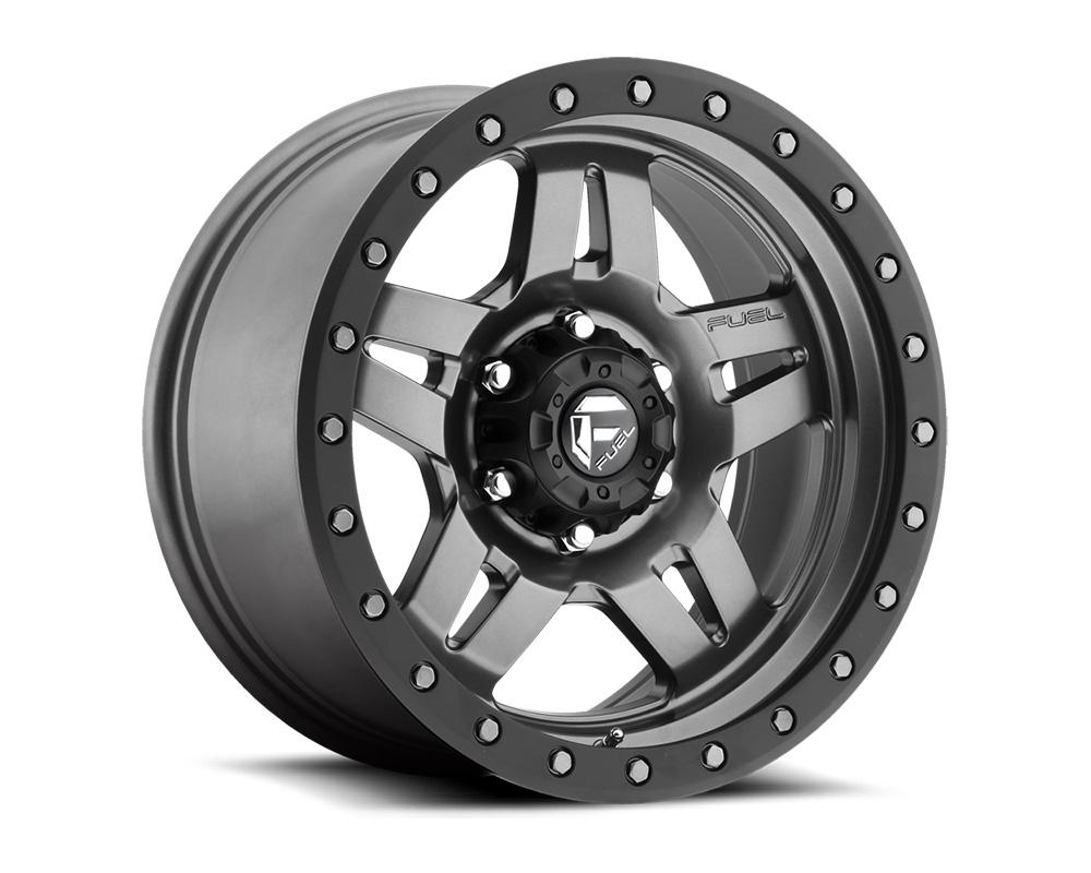 Fuel D558 Anza Matte Anthracite w/ Black Ring 1-Piece Cast Wheel 16x8 6x139.7 01mm