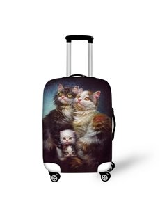 3D Printed Cats Family Full with Love Painted Luggage Cover]