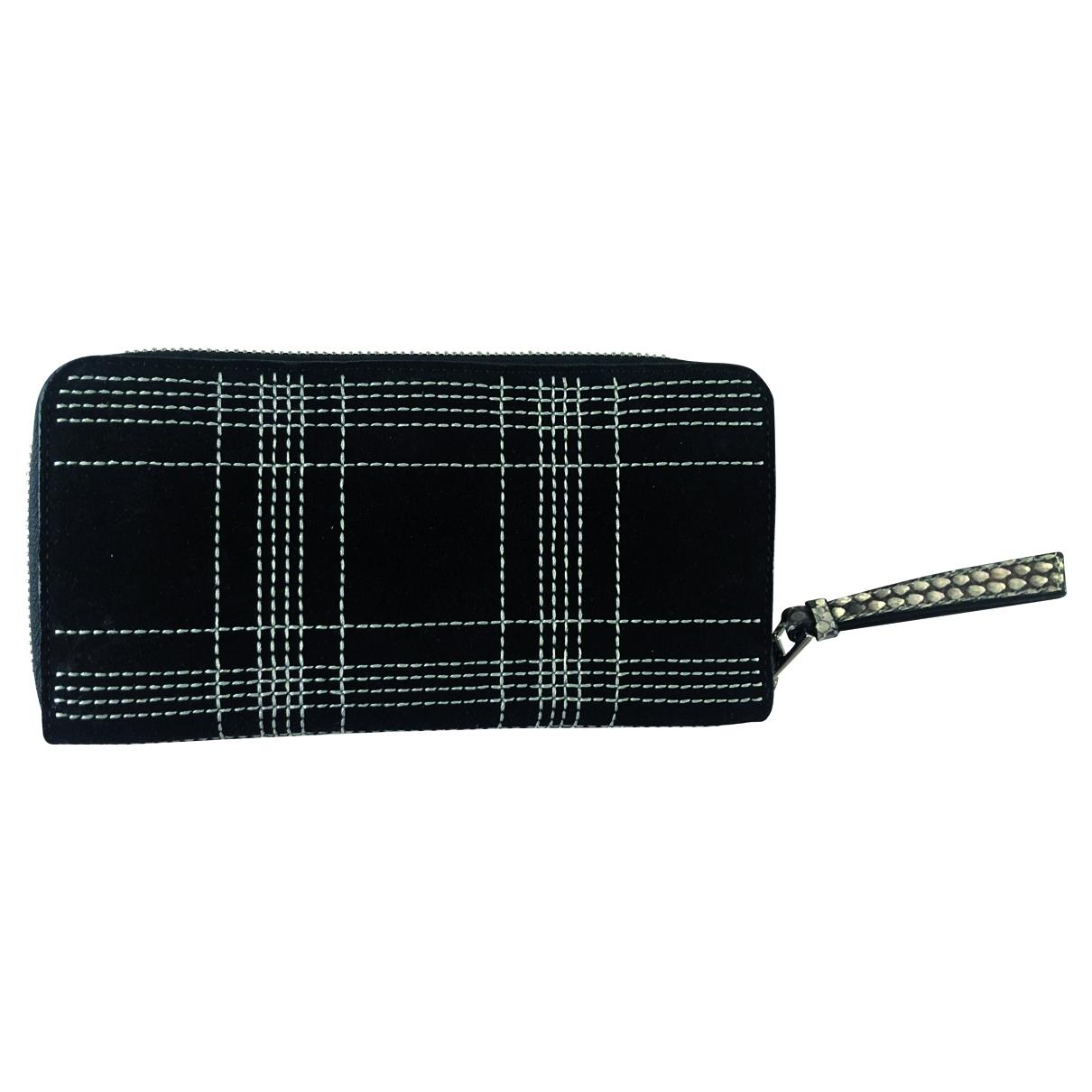 Loewe - Portefeuille   pour femme en suede - noir