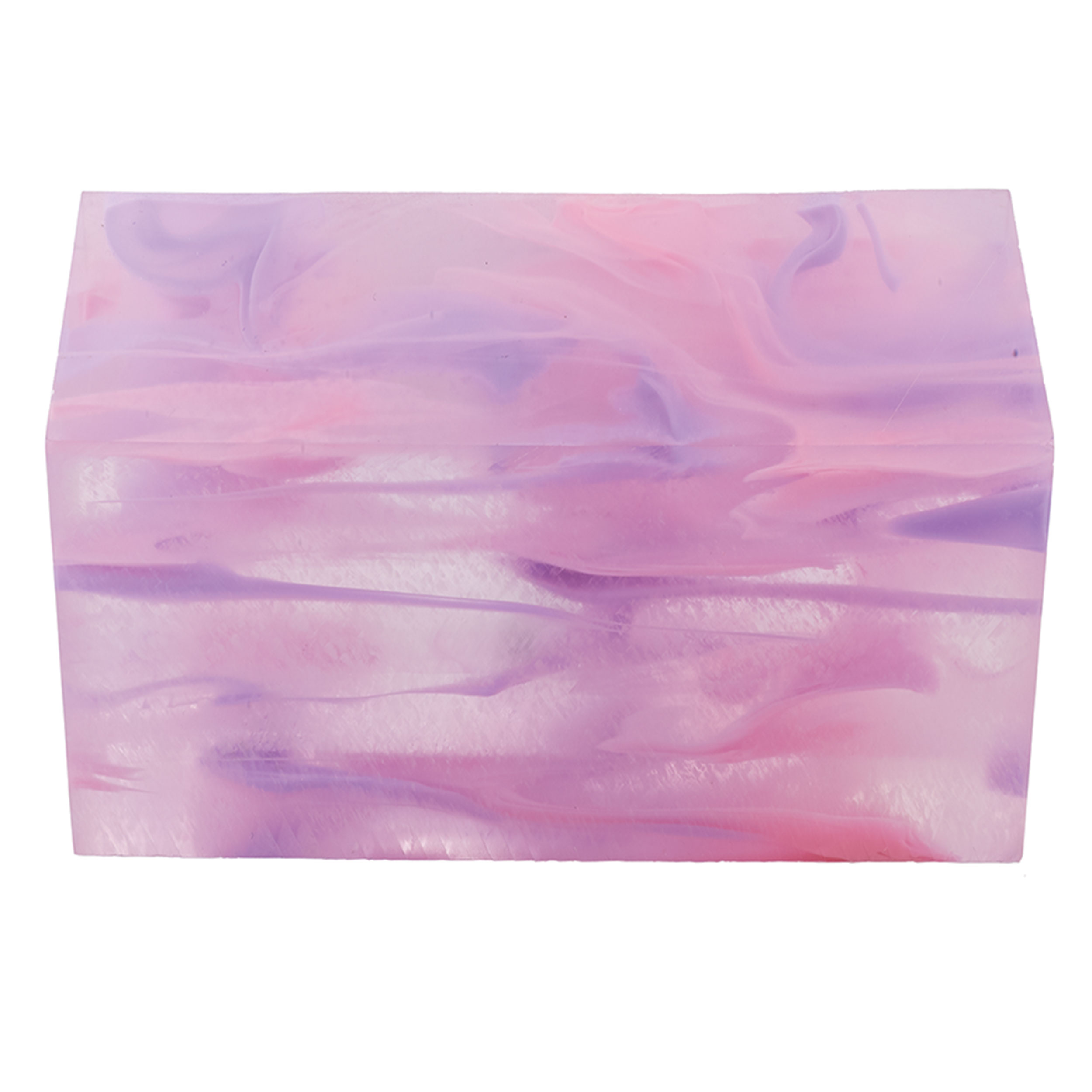 """Acrylic 1-1/2"""" x 1-1/2"""" x 3"""" Cotton Candy Clouds Turning Stock"""